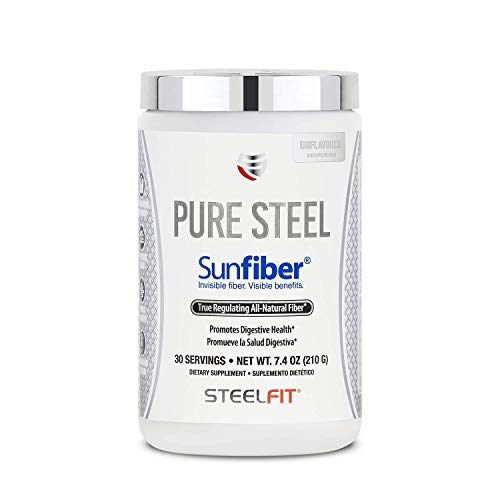 SteelFit Pure Steel Sunfiber® – All Natural Fiber – Supports Regularity – Promotes Digestive Health – Low FODMAP Certified – Dissolves Easily – Unflavored – Vegan – Gluten Free – 30 Servings (210 G)