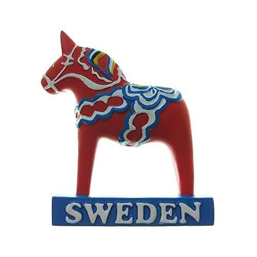 Swedish Dala Horse, Sweden Tourist Travel Souvenir 3D Resin Fridge Magnet Craft Gift Idea