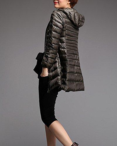 Warm Army Long Warm Jacket Coat Down Hooded Lightweight Down Green Womens Packable ZhuiKun 8RTqUZ8