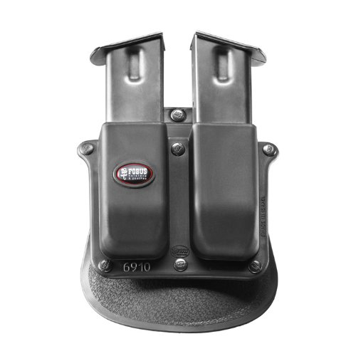 Fobus Holster Double Magazine Pouch for Beretta Px4 Storm & 92F, Taurus 24/7, S&W 0.40, SIG 226,229, Ruger P85 and Springfield XD 6910 FOBUS + Best Security Gear Magnet - Fobus Holster Double Magazine Pouch