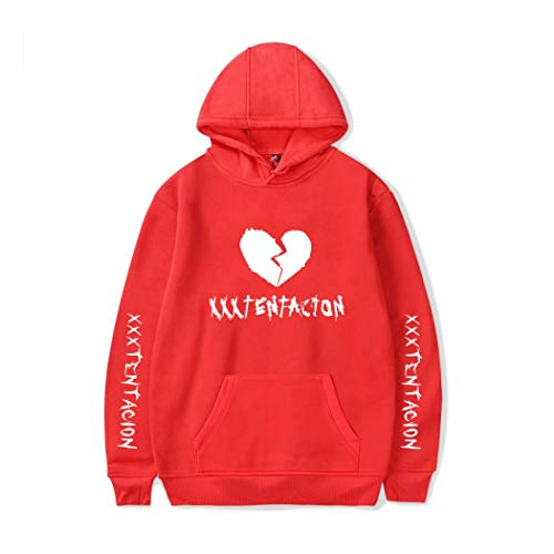 Raylans Women's Men's Long Sleeve Hooded Xxxtentacion Sad Heart Print Graphic Pullover ()