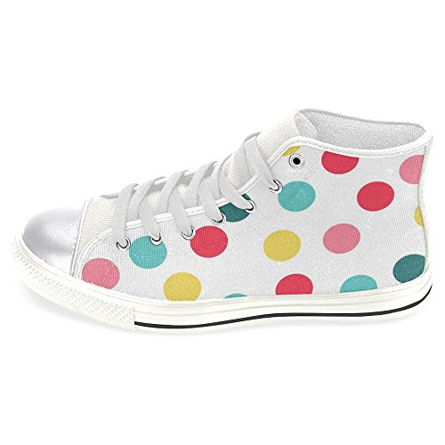 InterestPrint Womens High Top Classic Casual Canvas Fashion Shoes Trainers Lace Up Sneakers Polka Dot 5sQW7iDVA7