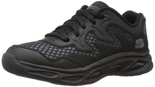 Skechers Kids Dynamo Athletic Sneaker,Black,4 M US Big Kid