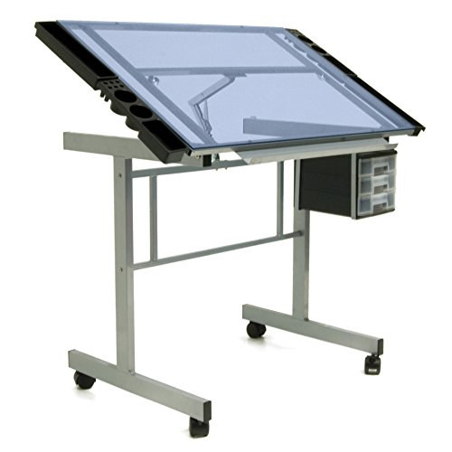 drafting table with parallel bar - 6