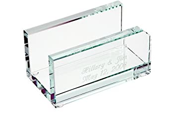 personalized glass business card holder - Amazon Business Card Holder