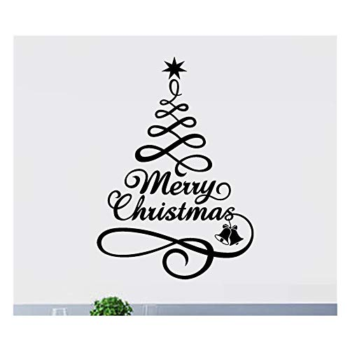 Christmas Tree Series Window Decal,Christmas Vinyl Wall Sticker Window Decal Decoration Home Decorations Gifts,For Walls, Doors,Closets, Plastic, Tiles, Fridges (Black)