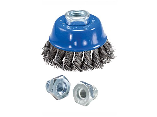 Mercer Industries Knot Cup Brush 2-3/4-Inch x ( 5/8-Inch-11, M10 x 1.25, M10 x 1.5), Stainless Steel