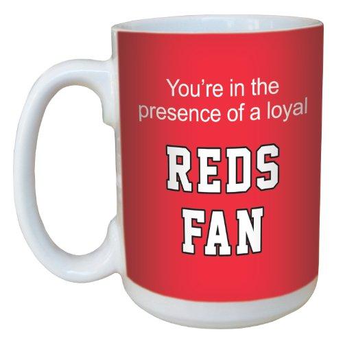 Tree-Free Greetings lm44083 Reds Baseball Fan Ceramic Mug with Full-Sized Handle, (Cincinnati Reds Mug)