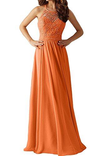 Gelb La Kleider Braut Dunkel Orange Langes Damen Jugendweihe Ballkleider Spitze Abendkleider mia Promkleider nxxpwRqHZS