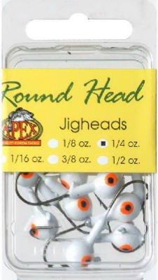 Maurice Sporting Goods RH14-5-10 Fishing Lure, Jighead, White, 1/4-oz., 10-Pk.