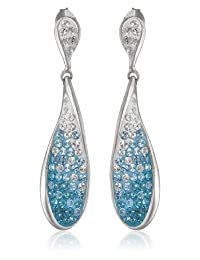 Sterling Silver Teardrop Earrings with Swarovski Elements