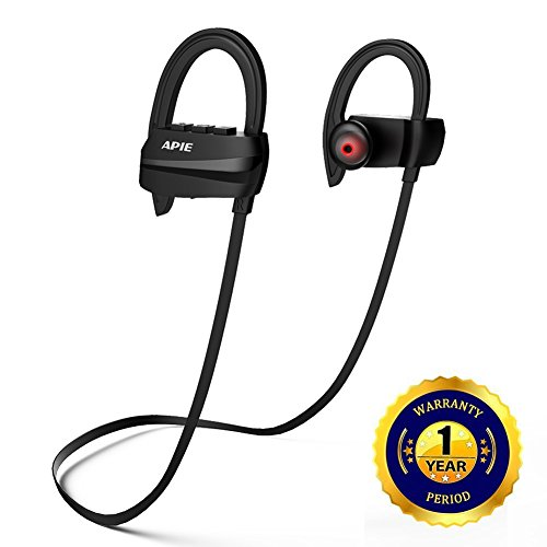 [APIE Bluetooth Headphones, Wireless Earbuds Bluetooth 4.1 with microphone Sport Stereo Headset,IPX7 Waterproof earphones ,Premium Sound with Bass, Noise Cancelling, for Gym Running Workout] (Wireless Enclosure)