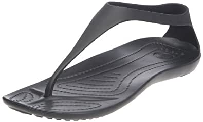 Crocs Sexi Flip - Chanclas para mujer, color negro (black/black), talla 34/35