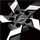 【Mercedes-Benz純正】 メルセデス・ベンツ センターキャップ グロスブラック 4個セット B66470200