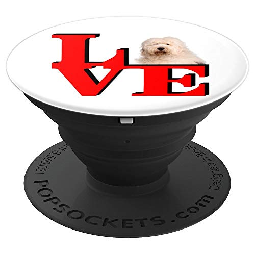 Old English Sheepdog Love Park I love my dog - PopSockets Grip and Stand for Phones and Tablets