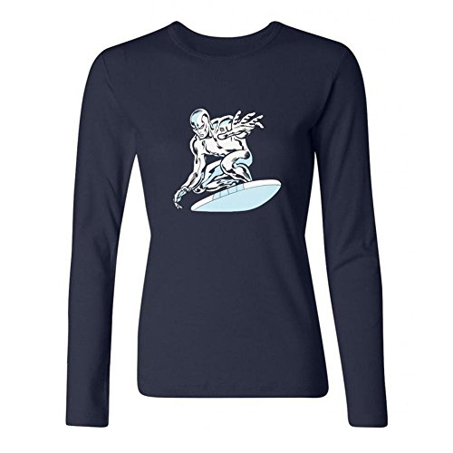 DESBH Women's Silver Surfer Superhero Long Sleeve T Shirt (Blade Runner Ultimate Cut compare prices)