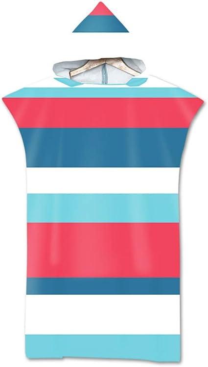 Microfibre /à S/échage Rapide en Tissu Surfing Changement Robe /à Capuche Poncho Plage /à Langer Peignoir Natation pour Adulte Large Odot Serviette Poncho de Surf