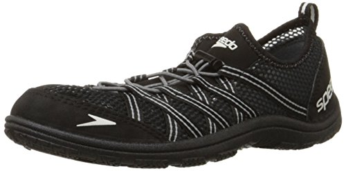 Speedo Men's Seaside LACE 4.0-M Water Shoe, Black, 10