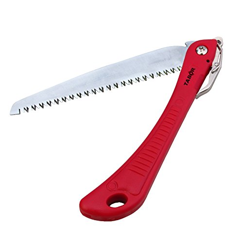 Tabor Tools T-6 Folding Pruning Saw and All-Purpose Hand Saw, Great for Trimming Tree Branches & Clearing Forest Trails, features a 7.5