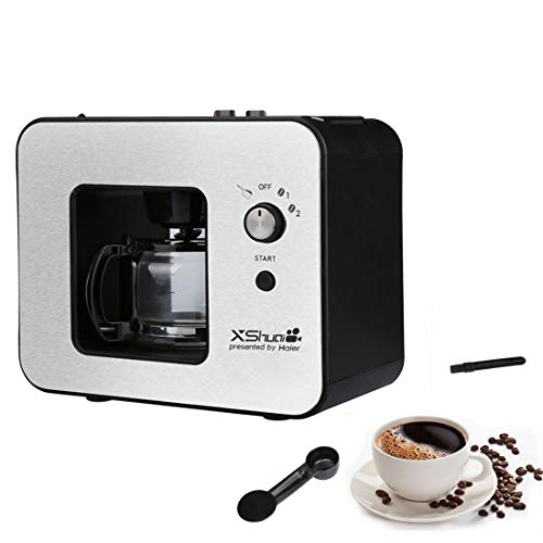Grinding & Brew Automatic Coffeemaker,4 Cup Coffee Maker with Grinder Built In, Drip Coffee Machine,Thermal carafe,Black…