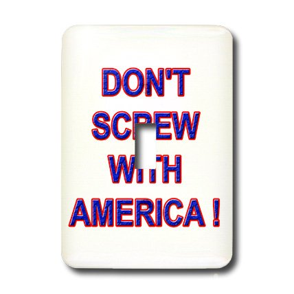 3dRose Lsp_1487_1 Dont Screw with America Single Toggle Switch