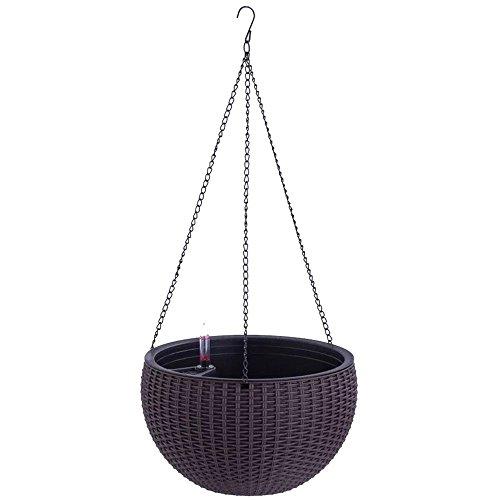 Growers Hanging Basket, Indoor Outdoor Hanging Planter Basket , 10.4 in.Round Resin Garden Plant Hanging Planters Decor Pots (Well Planter Basket)