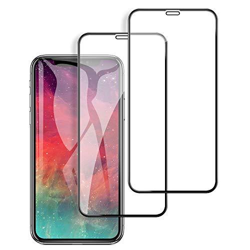 支出知人状態【2枚セット】 iPhone XS Max ガラスフイルム アイフォンXS Max 強化ガラス【日本製素材旭硝子製】 9Dラウンドエッジ加工/業界最高硬度9H/高透過率/3D Touch対応/自動吸着/気泡ゼロ ガラスフィルム 全面保護 液晶保護フイルム 全面フイルムカバー 6.5インチ対応 ブラック(黒)