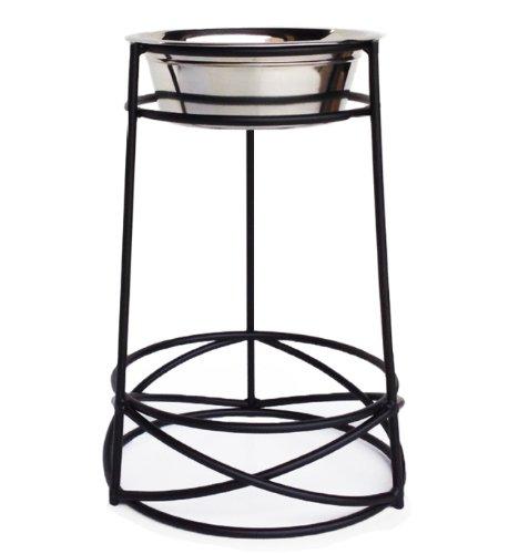Mesh Single Bowl Dog Diner – 18″ Tall – Black, My Pet Supplies