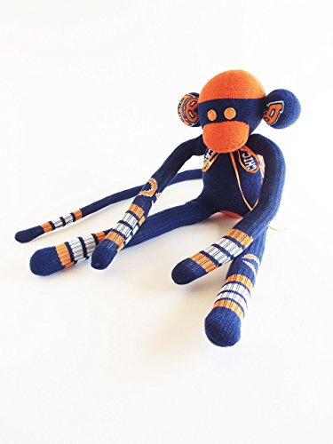 Illinois Monkey - Chicago Bears Themed Sock Monkey - NFL - National Football League - Navy Sock Monkey - Football Sock Monkey - Chicago - Illinois - Bears Monkey