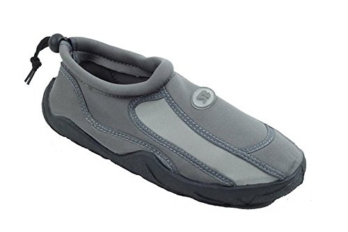 Mens Slip auf Wasser Pool Aqua Socke Grau 5905