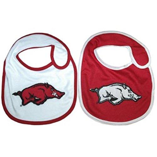 (NCAA Arkansas Razorbacks Infant Bib 2-Piece Set )