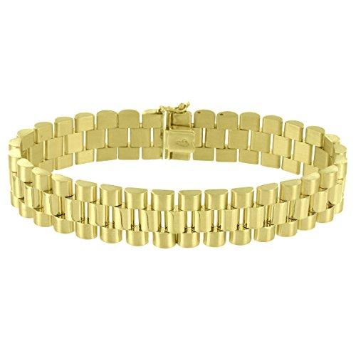 10k Yellow Gold Presidential Link Bracelet Luxury High End 15mm Mens Custom 8.5'' by Master Of Bling