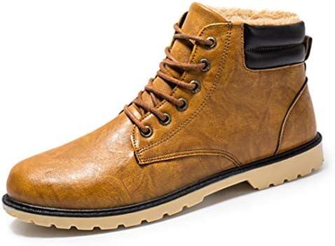 ブーツ メンズ 黒 革靴 イギリス風 ワークブーツ 裏ボア マーティンブーツ アウトドア 綿雪靴 ウィンターブーツ 通勤 ワークシューズ 無地 あたっか スポーツ 冬用 暖かい 防寒 マーティン ブーツ 安定感 男性