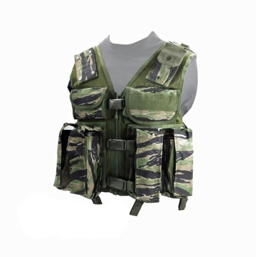 Tactical Ten Paintball Vest (Tiger Stripe) - Large Size - paintball chest protector by Rap4