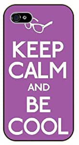 iPhone 5 / 5s Keep Calm and be cool - black plastic case / Keep Calm, Motivation and Inspiration