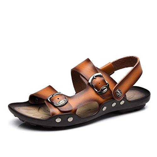 CM Pantofole Sandalo Cool Traspiranti 27 0 pantofole 0 Colore 1 Scarpe Dimensione 41 Marrone Uomo Wagsiyi Antiscivolo Marrone Scarpe Leather da spiaggia Outdoor Blu EU 3 24 ZAc855wq