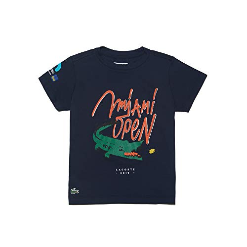 Lacoste Boys' Big Kids' Sport Miami Open Edition Croc T-Shirt, Navy Blue, 16YR