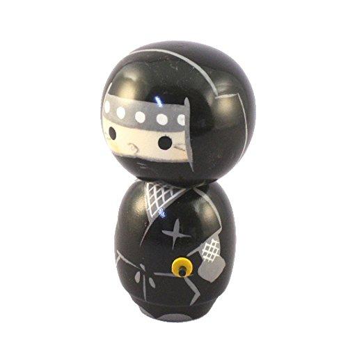 Kokeshi Doll–Ninja nero Kokeshi Doll-Ninja nero JAPAN CRAFT