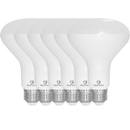 Great Eagle R30 or BR30 LED Bulb, 12W (100W equivalent), 1290 Lumens, Brighter Upgrade for 65W Bulb, 4000K Cool White Color, For Recessed Can Use, Wide Flood Light, Dimmable, and UL Listed (Pack of 6)