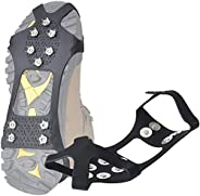 takyu Upgraded Version of Walk Traction Ice Cleat Microspikes Crampons,Stainless Steel crampons Safe Protect f
