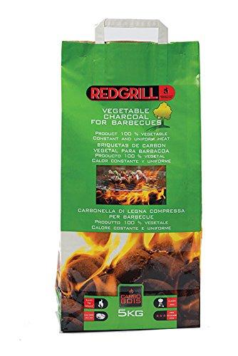 CarboBois - CARBONELLA per Barbecue BRIQUETTE 100% VEGETALI di Legna Compressa - Sacco da 5 Kg 5410312900403