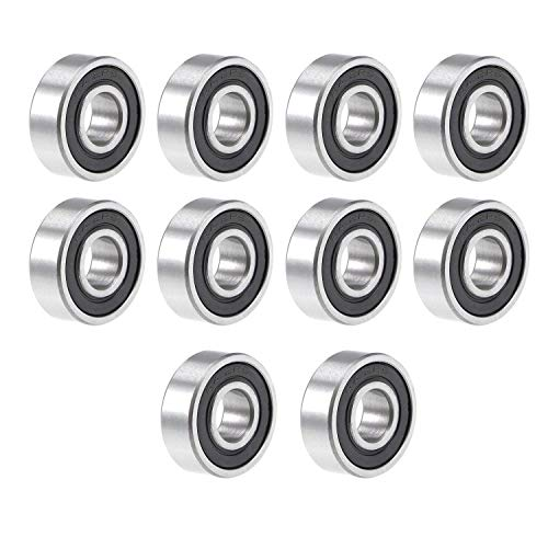 10 x Silver Bearing Steel Sealed 626ZZ Deep Groove Roller Ball Bearing 6x19x6mm
