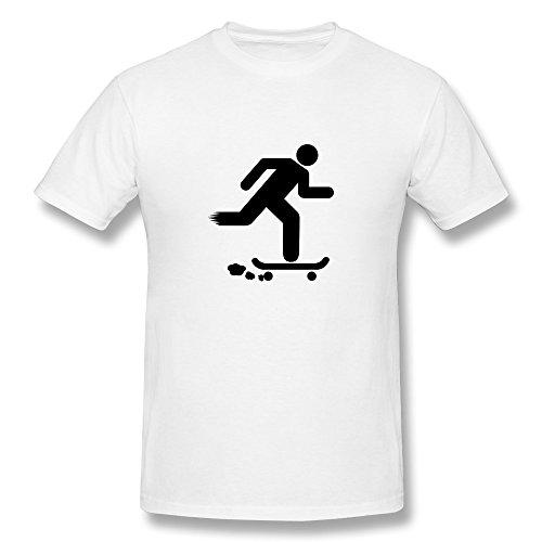 Skateboarder FussMenCotton White KaiOu Men T Shirt Theme
