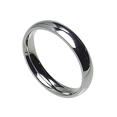 3mm stainless steel comfort fit plain wedding band ring size 3 10 4 - Stainless Steel Wedding Ring