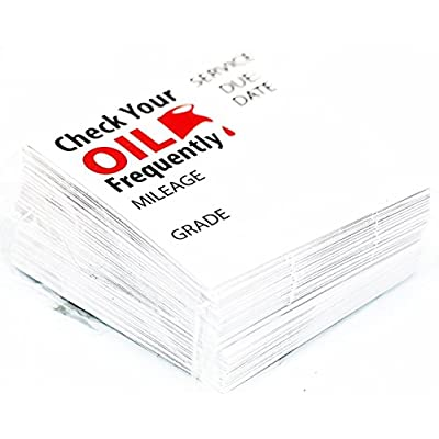 Parts Flix OCS-100 Clear Premium Quality Oil Change Stickers Static Cling, 100 Pack: Automotive