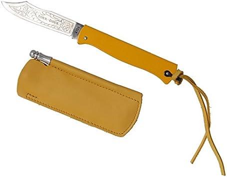 "9cm verchr Taschenmesser Karbonstahl-Klinge Griff /""L/'ECUREUIL/"" Douk Douk"