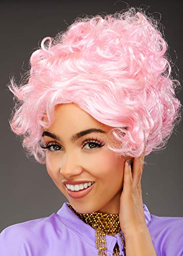 Magic Box Greatest Showman Style Curly Pink Trapeze Artist Wig