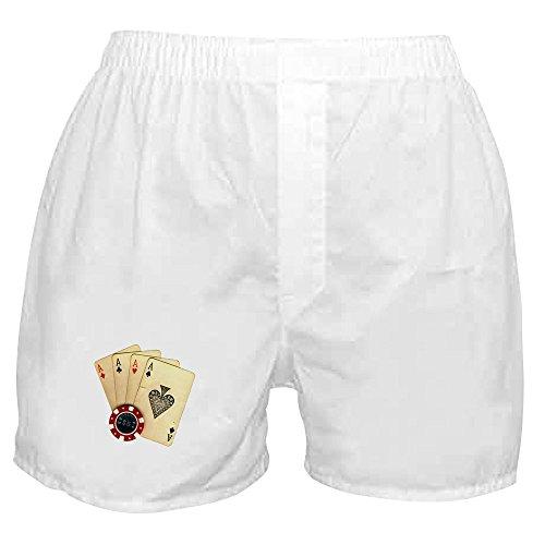 CafePress - Poker - 4 Aces - Novelty Boxer Shorts, Funny Underwear (Poker Boxers)