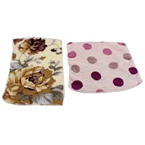 Plush Strong Water Absorbing Cleaning Towel 2 Pcs Assorted Colors