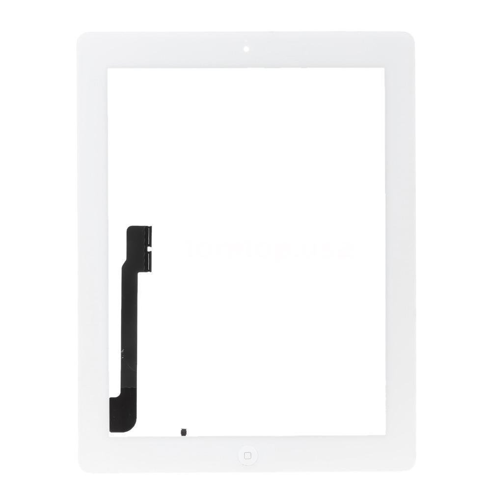 ThePerfect Part Digitizer for iPad 4 with Home Button, Touch Screen Repair Kits Included Professional Repair Tools and Pre-installed Adhesive (White)